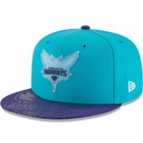 New Era ニュー エラ スポーツ用品  New Era Charlotte Hornets Teal Team Color On-Court 9FIFTY Snapback Adjustable Hat