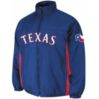 Majestic マジェスティック アウターウェア ジャケット/アウター Big & Tall Texas Rangers Royal Blue Double Climate On-Field Jacket