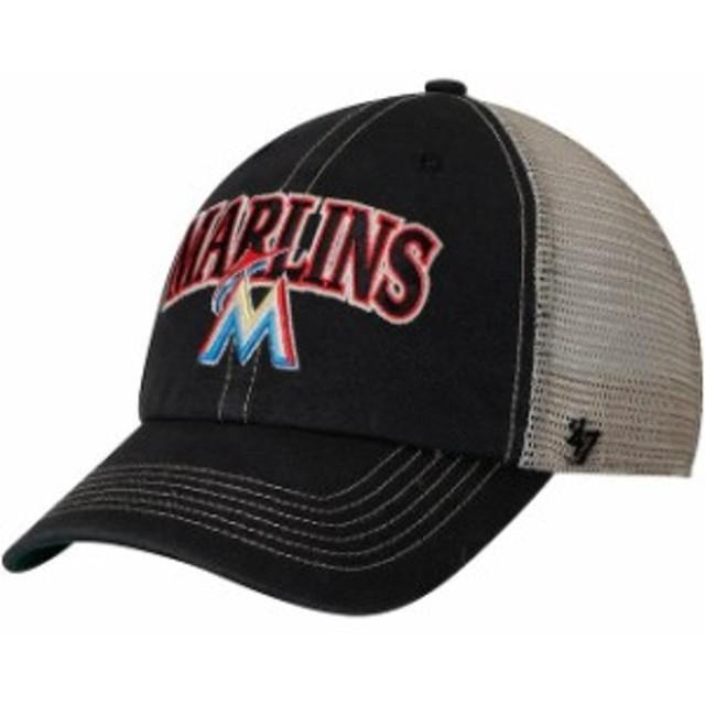 47 フォーティーセブン スポーツ用品  47 Miami Marlins Black/Natural Tuscaloosa Clean Up Adjustable Hat