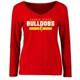 Fanatics Branded ファナティクス ブランド スポーツ用品  Ferris State Bulldogs Womens Red Team Strong Long Sleeve T-Shirt