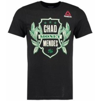 Reebok リーボック スポーツ用品  Reebok Chad Mendes UFC Black Money Dollar Mendes T-Shirt