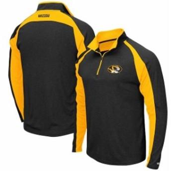 Colosseum コロセウム スポーツ用品  Colosseum Missouri Tigers Heathered Black The J. Peterman Quarter-Zip Pullover Jacket