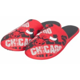 Forever Collectibles フォーエバー コレクティブル スポーツ用品  Chicago Bulls Youth Red Wordmark Printed Slippers