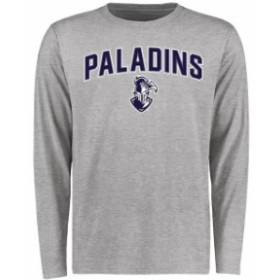 Fanatics Branded ファナティクス ブランド スポーツ用品  Furman Paladins Ash Proud Mascot Long Sleeve T-Shirt