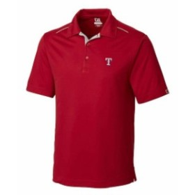 Cutter & Buck カッター アンド バック シャツ ポロシャツ Cutter & Buck Texas Rangers Red Foss Hybrid DryTec Polo