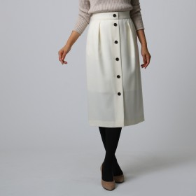 UNTITLED(アンタイトル)/[L]フロントボタンナロースカート