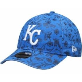 New Era ニュー エラ スポーツ用品  New Era Kansas City Royals Girls Youth Royal Floral Peek 9TWENTY Adjustable Hat