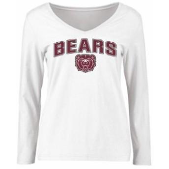 Fanatics Branded ファナティクス ブランド スポーツ用品  Missouri State University Bears Womens White Proud Mascot Long Sleeve T-S