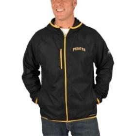 Majestic マジェスティック アウターウェア ジャケット/アウター Majestic Pittsburgh Pirates Black Strong Will Dry Base Full-Zip Hoo