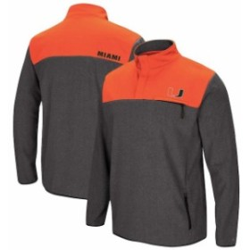 Colosseum コロセウム スポーツ用品  Colosseum Miami Hurricanes Heathered Charcoal You Can Do It Half-Snap Fleece Jacket
