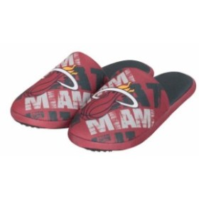 Forever Collectibles フォーエバー コレクティブル スポーツ用品  Miami Heat Red Digital Print Slippers