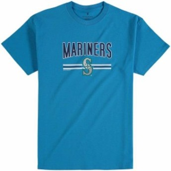 Soft as a Grape ソフト アズ ア グレープ スポーツ用品  Soft as a Grape Seattle Mariners Youth Aqua On Base Crew T-Shirt