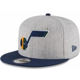 New Era ニュー エラ スポーツ用品  New Era Utah Jazz Heathered Gray/Navy Two-Tone 9FIFTY Snapback Adjustable Hat