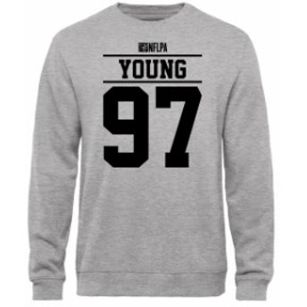 NFL Pro Line by Fanatics Branded エヌエフエル プロ ライン スポーツ用品  Willie Young NFLPA Player Issued Sweatshirt - Ash