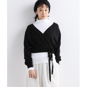 journal standard luxe ☆【MANUELLE GUIBAL /マニュエルギバル】 Cache Short Cardigan ブラック 2