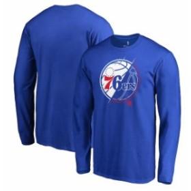 Fanatics Branded ファナティクス ブランド スポーツ用品  Fanatics Branded Philadelphia 76ers Royal X-Ray Long Sleeve T-Shirt