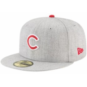 New Era ニュー エラ スポーツ用品  New Era Chicago Cubs Heathered Gray Hype 59FIFTY Fitted Hat