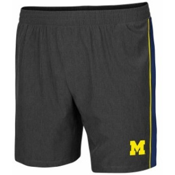 Colosseum コロセウム スポーツ用品  Colosseum Michigan Wolverines Charcoal Spring Training Lined Running Shorts