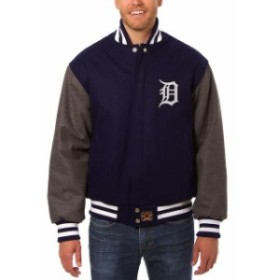 JH Design ジェイエイチ デザイン スポーツ用品  JH Design Detroit Tigers Navy/Charcoal Wool Full-Button Jacket