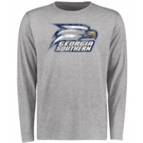 Fanatics Branded ファナティクス ブランド スポーツ用品  Georgia Southern Eagles Ash Big & Tall Classic Primary Long Sleeve T-Shir