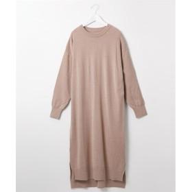 至福の肌触り クルーネックニットワンピース (ワンピース),dress