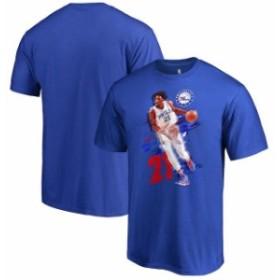 Fanatics Branded ファナティクス ブランド スポーツ用品  Fanatics Branded Joel Embiid Philadelphia 76ers Royal Fade Away T-Shirt