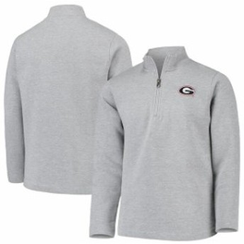 Garb ガード スポーツ用品  Garb Georgia Bulldogs Youth Heathered Gray Doug Quarter-Zip Pullover Sweatshirt