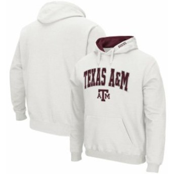 Colosseum コロセウム スポーツ用品  Colosseum Texas A&M Aggies White Arch & Logo Tackle Twill Pullover Hoodie