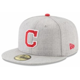 New Era ニュー エラ スポーツ用品  New Era Cleveland Indians Heathered Gray Heathered Hype 59FIFTY Fitted Hat