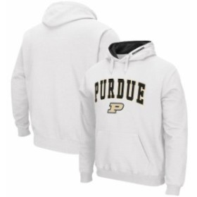 Colosseum コロセウム スポーツ用品  Colosseum Purdue Boilermakers White Arch & Logo Tackle Twill Pullover Hoodie