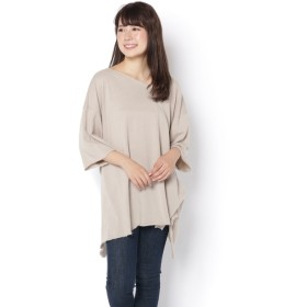 OUTLET(アウトレット) レディース 【WHO'S WHO gallery】ガーゼ裏毛マルチトップス グレージュ