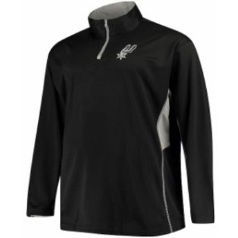 Majestic マジェスティック スポーツ用品  Majestic San Antonio Spurs Black Poly Jersey 1/4-Zip Jacket
