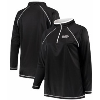 Majestic マジェスティック スポーツ用品  Majestic Colorado Rockies Womens Black Plus Size Quarter-Zip Pullover Jacket