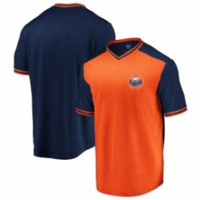 Majestic マジェスティック スポーツ用品  Majestic Houston Astros Orange/Navy Good Graces Cooperstown Collection V-Neck T-Shirt