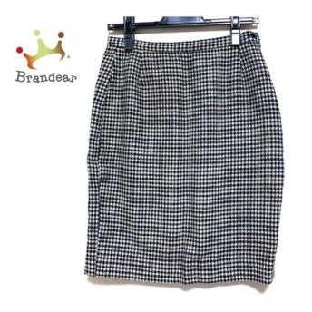 アニエスベー agnes b スカート サイズ38 M レディース 美品 黒×白 千鳥格子   スペシャル特価 20200125