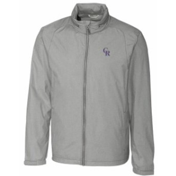 Cutter & Buck カッター アンド バック スポーツ用品  Colorado Rockies Cutter & Buck Panoramic Packable Full-Zip Jacket - Heather G