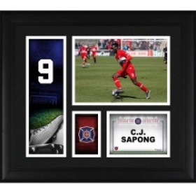 Fanatics Authentic ファナティクス オーセンティック スポーツ用品  Fanatics Authentic C.J. Sapong Chicago Fire Framed 15 x 17 Play