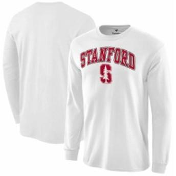 Fanatics Branded ファナティクス ブランド スポーツ用品  Fanatics Branded Stanford Cardinal White Campus Long Sleeve T-Shirt