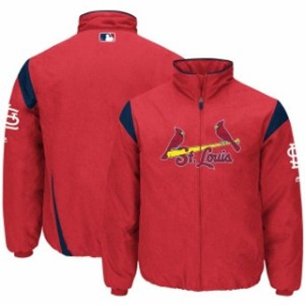 Majestic マジェスティック アウターウェア ジャケット/アウター Majestic St. Louis Cardinals Red On-Field Therma Base Thermal Full-