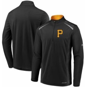 Majestic マジェスティック アウターウェア ジャケット/アウター Majestic Pittsburgh Pirates Black Perfect Movements Cool Base Quart