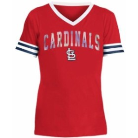 New Era ニュー エラ スポーツ用品  New Era St. Louis Cardinals Girls Youth Red Baby Jersey V-Neck T-Shirt
