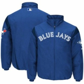 Majestic マジェスティック アウターウェア ジャケット/アウター Majestic Toronto Blue Jays Royal On-Field Therma Base Thermal Full-