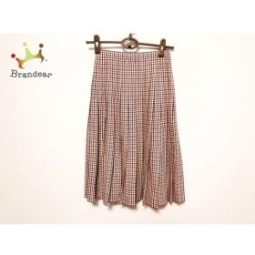 ジバンシー GIVENCHY スカート サイズ6 M レディース 美品 アイボリー×黒×レッド チェック柄  値下げ 20200124