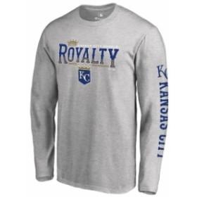 Fanatics Branded ファナティクス ブランド スポーツ用品  Kansas City Royals Heathered Gray Royalty Hometown Long Sleeve T-Shirt