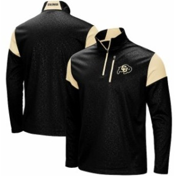 Colosseum コロセウム スポーツ用品  Colosseum Colorado Buffaloes Black Luge Quarter-Zip Pullover Jacket