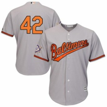 Majestic マジェスティック スポーツ用品  Majestic Baltimore Orioles Gray 2019 Jackie Robinson Day Official Cool Base Jersey