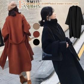 ウールコート韓国ファッションウールコートスリム緩い大きなサイズのウールコート