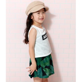 ANAP KIDS&HOME(アナップ キッズ&ホーム)/リーフ柄ワンピースセットアップ