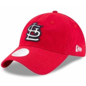 New Era ニュー エラ スポーツ用品  New Era St. Louis Cardinals Womens Red Team Glisten 9TWENTY Adjustable Hat