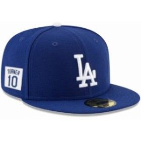 New Era ニュー エラ スポーツ用品  New Era Justin Turner Los Angeles Dodgers Royal Player Patch 59FIFTY Fitted Hat